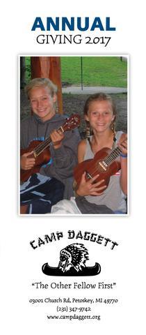 Annual Giving 2017 - Camp Daggett